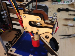 Filament guide for Printrbot Simple (late 2013 wood extruder)