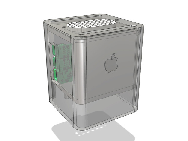 Raspberry pi (Macintosh) G4 Cube Mini (Raspberry Pi 2 + 3 Case) by