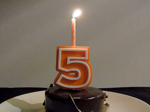 Candle Holder Numbers - Numbers 0 - 9 for Birthday Cake Decoration