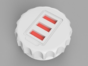 Cap with capacity indicator - Addon