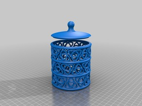 celtic knot storage cylinder - with simple lid - some stackable