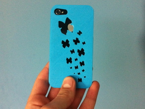 Kallima inachus butterfly iPhone 4/4s case (butterfly's flying away iPhone case)