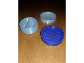 Small 2-Part Container w/ Lid 40x40x10 MM.