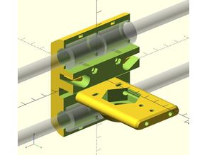 X-Carriage (with sensormount & cablechain) for Wilson 2 - 4 Bearings Remix