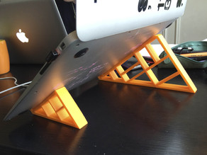 Geometric stand for MacBook Air