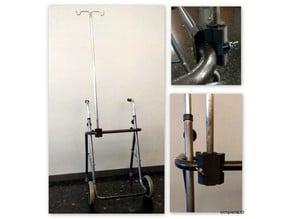 Serum holder support to fix in a walker