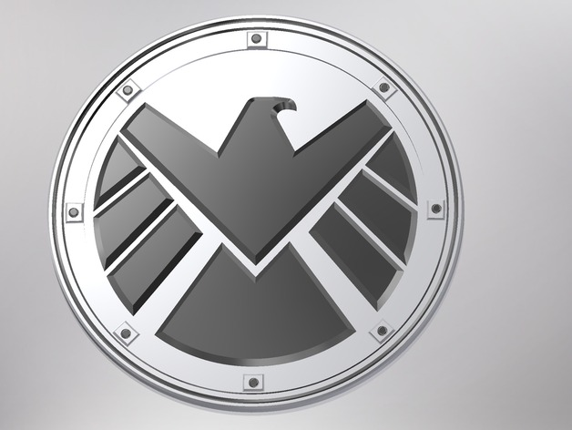 marvels agents of shield logo badge by mrsnowie