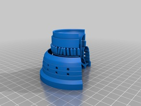 Jet Engine Combustion Liner Meshmixer Custom Support