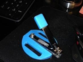 Nail clipper adapter