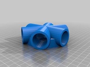 6-Way PVC 3/4 Fitting rev 4