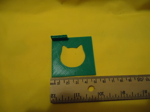 Simple Cat Head Stencil