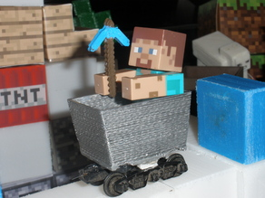 Mine cart for Minecraft toy figures
