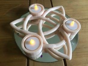 Celtic Trinity Candle Stick holder