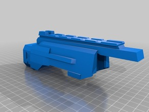 Lazer Tag LTAR replacement cover with nerf stock attachment