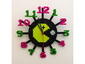 Pac-Man Clock NEW VERSION