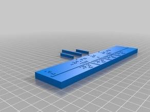 Ruler - z Quartiles Braille español