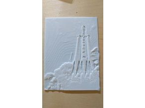 SpaceX Falcon Heavy Lithophane