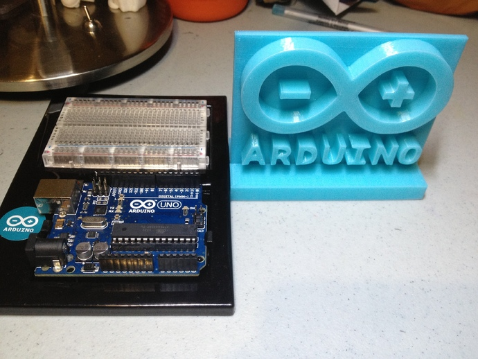 Arduino desk sign by davey thingiverse