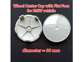 Wheel Center Cap diameter 68mm. with flat face for BMW vehicle