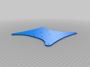 CR-10 reduced-weight heat bed sledge