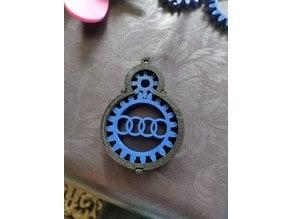 Audi gear keychain