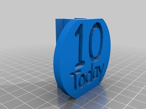10th Birthday Candle (Fountain) Mount Sign