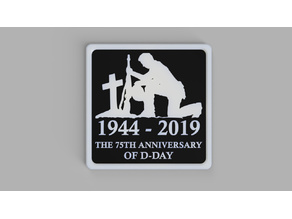 D Day 75th Anniversary Plaque