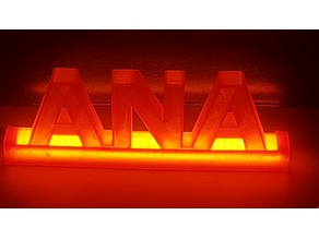 3D Letters with iluminated base ANA