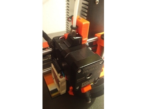 Prusa i3 MK3s R4 extruder MMU2s with path through coupling and second tensioner