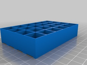 LED Matrix 6 x 4 (print it 12 times to get an 18 x 16 matrix for 5m of WS2812B with 300 LED of which 288 will used)