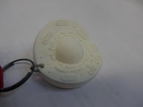 Porte-clé cellule animale - animal cell key ring