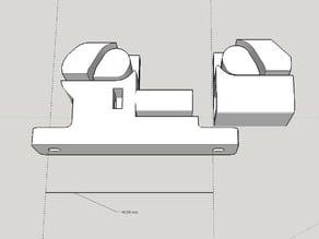 RepRap Prusa i3 Adjustable Y Belt Holder 44mm