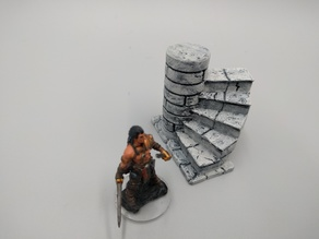 Crypt stairs - 28mm gaming