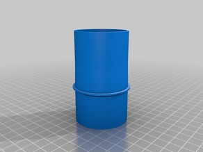 Connect vacuumhose from CNC to cyclone adapter v2