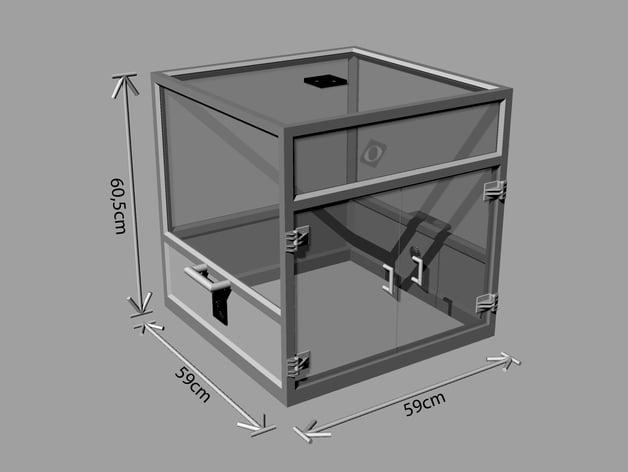 printable modular prusa reprap 3d printer enclosure frame by rockel83 thingiverse