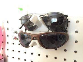 pegboard peg board sunglasses glasses holder