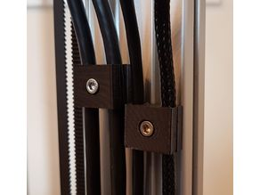 Two-part cable tidy for 3D printers