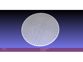 Basic Circular Sieve (for testing MP Mini-Delta build-plate leveling)