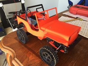 Fully 3D printable OSSUM Jeep