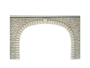 Tunnel gate with bricks textured