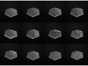 Hexa Bases Miniatures. Peanas Miniaturas hexagonales
