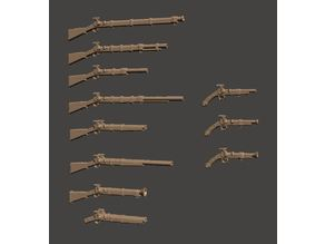 28mm Fantasy Arsenal of Muskets Percussion / Flintlock Firearms and Guns