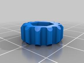 Finger tightening ring for hex nuts