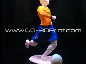 Brazil 2014 FIFA World Cup Football Soccer Player Kicking Ball