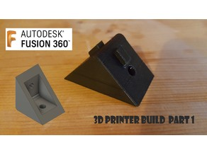 3D Printer Build Part 1 3030 Corner Bracket