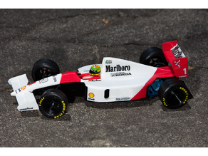 Aryton Senna's Mclaren MP4/6 3d Printed RC F1 Car