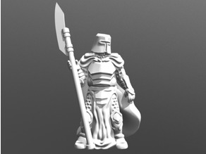Knight w/Polearm (28mm/32mm scale)