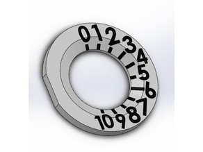 Microwave Number Dial to help visually impaired