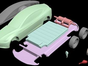 Tesla Model S - Separate parts ready for printing