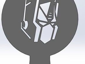 Coffee Stencil - Optimus Prime